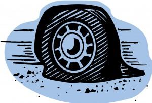 4-9-13 Flat tire