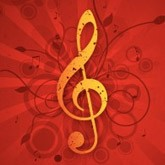 Red and Gold Treble Clef Email Image