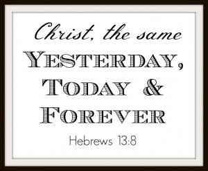 Christ the same