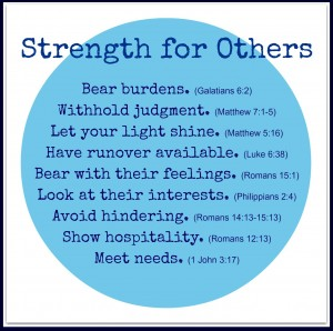 Strength for Others
