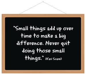 Small things quote